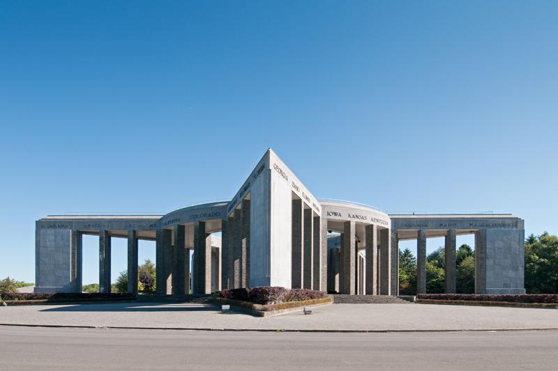 Het Mardasson monument, Bastogne België