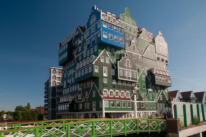 Intell hotel Zaandam Nederland - Zaanse huisjes,