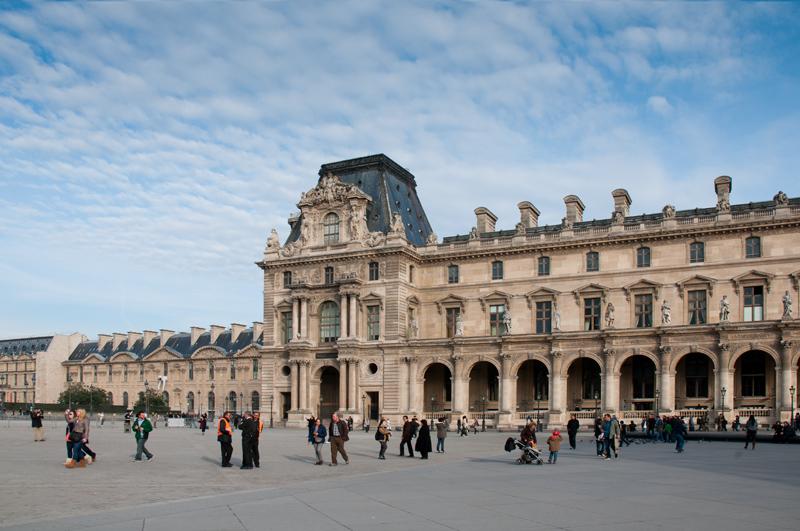Frankrijk Parijs - Binnenplein van het Louvre