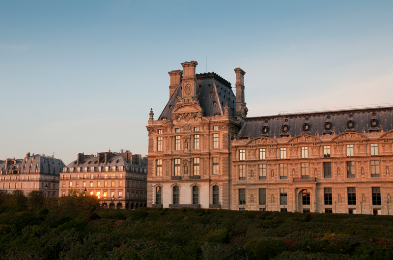 Parijs - Jardin des tuileries avondlicht