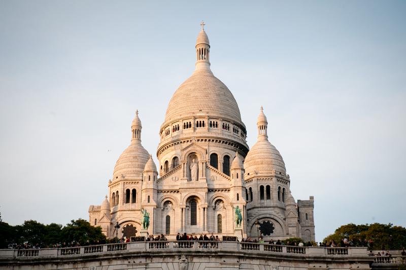 Frankrijk Parijs - Sacré coeur avondlicht