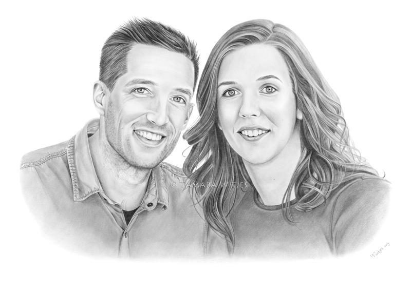 portrettekening huwelijkscadeau