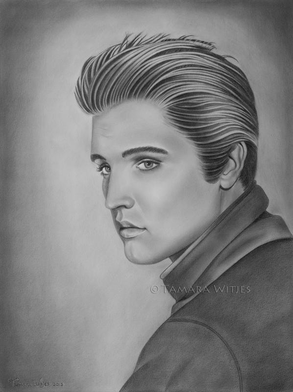 Elvis Presley schilderij
