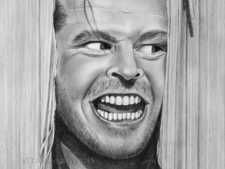 Potloodportret Jack Nicholson portrettekenaar