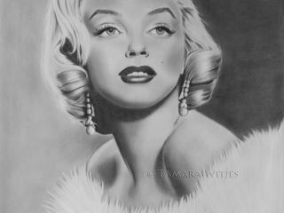Portrettekening Marilyn Monroe portrettekenaar