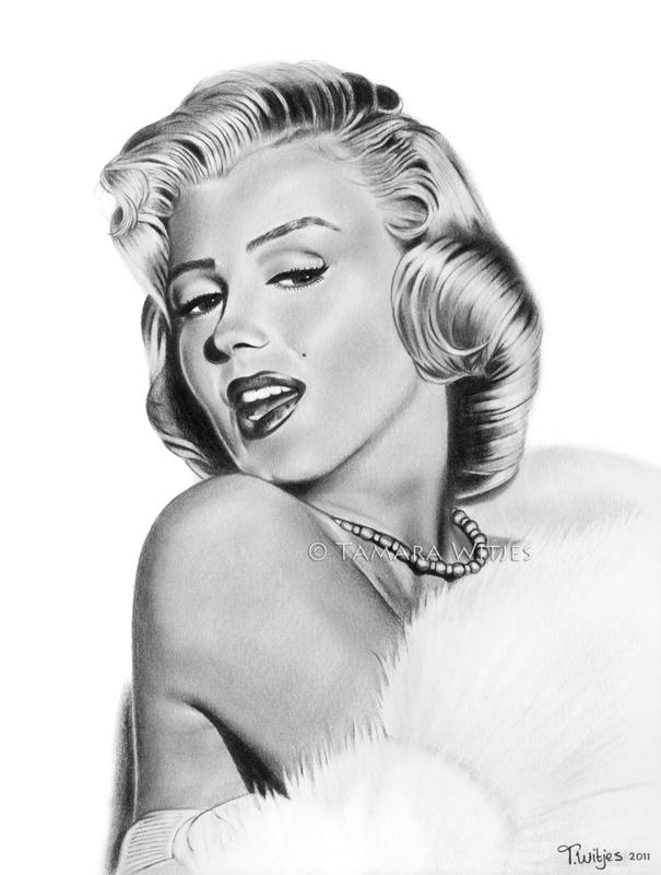 Potloodtekening Marilyn Monroe