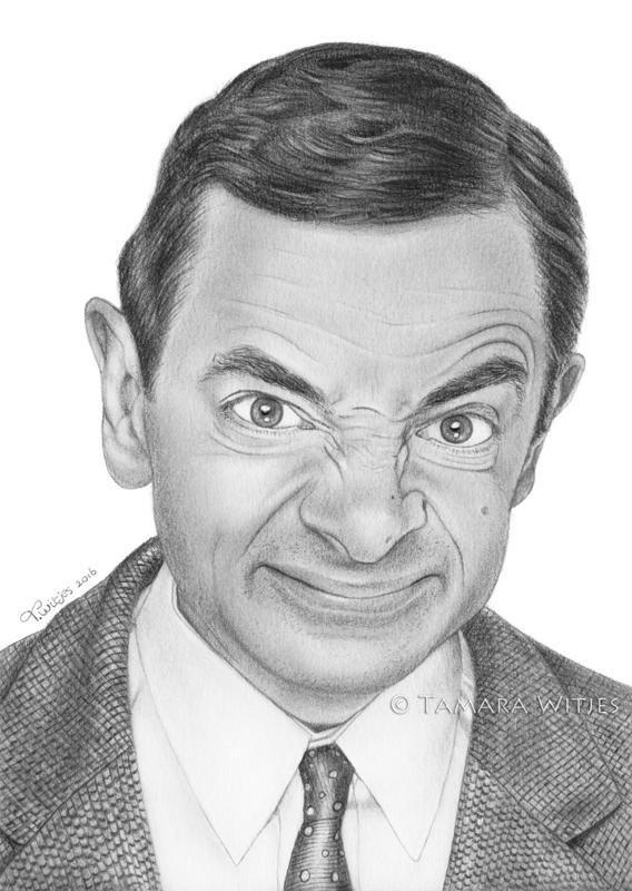 Mr Bean betaalbare portrettekening