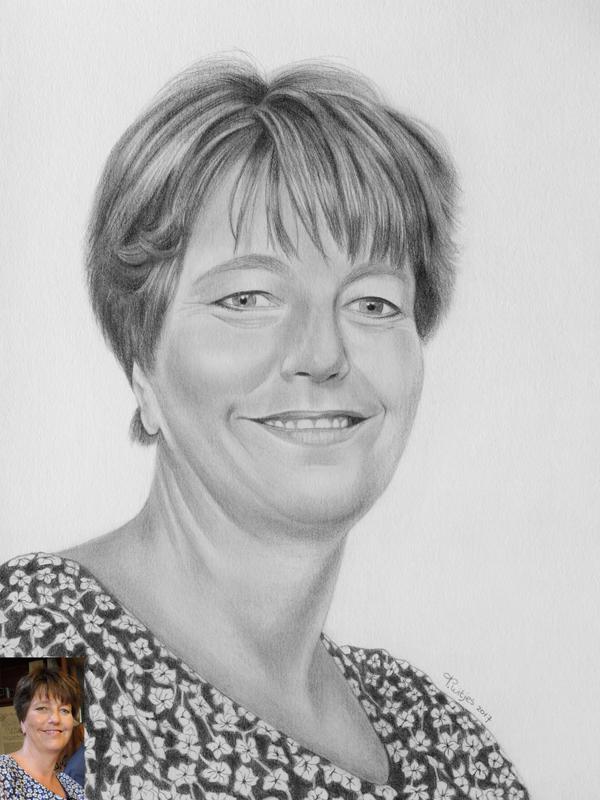Potloodportret vrouw