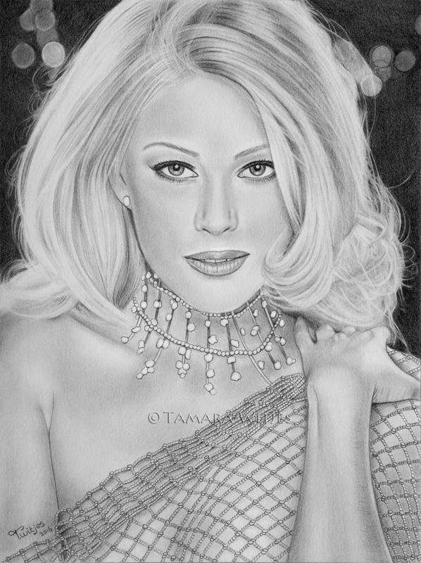 Shanna Moakler sexy portrettekening laten maken